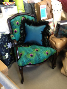 peacock upholstered chair
