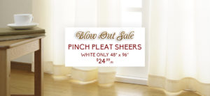 pleat sheers sale