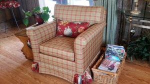 upholstered chair, upholstery