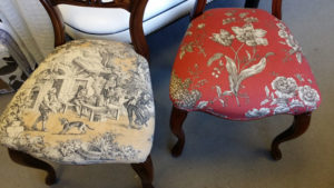 dining chair repair, reupholstered dining chair