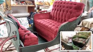 upholstered sleigh